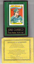 Jose Canseco SIGNED 1989 Topps All Star Card Plaque