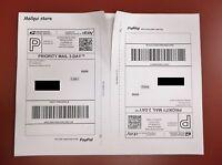 50 Shipping Labels, Paypal, Usps, Ups Strong Self Adhesive