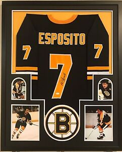 Image is loading FRAMED-PHIL-ESPOSITO-AUTOGRAPHED-SIGNED-BOSTON-BRUINS- JERSEY- 4fb6eb940