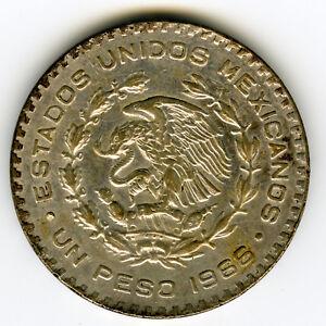 # MEXICO 1966 ☆ 1 PESO SILVER • JOSE MORELOS ☆ PESO PLATA 0.100 • KM# 459 ☆C3148