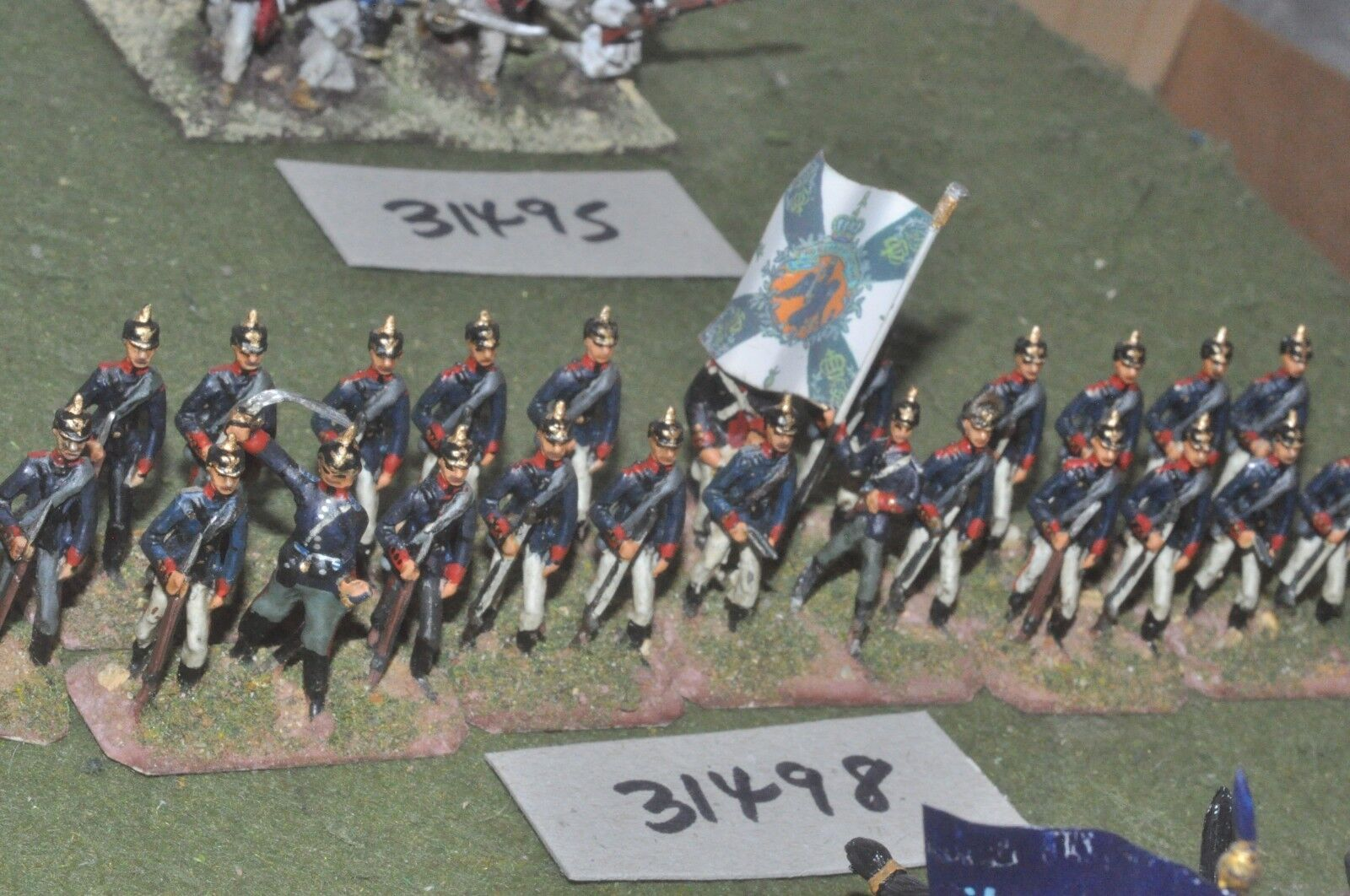 25mm 19th century   prussian - regt. 24 figures - inf (31498)