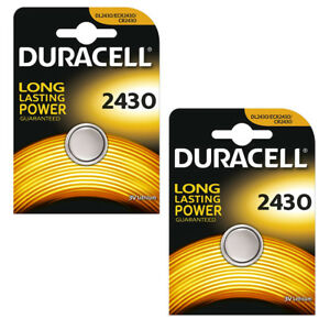 Duracell CR2430 Lithium Battery 3v Button Coin Cell DL2430 ECR2430 Batteries