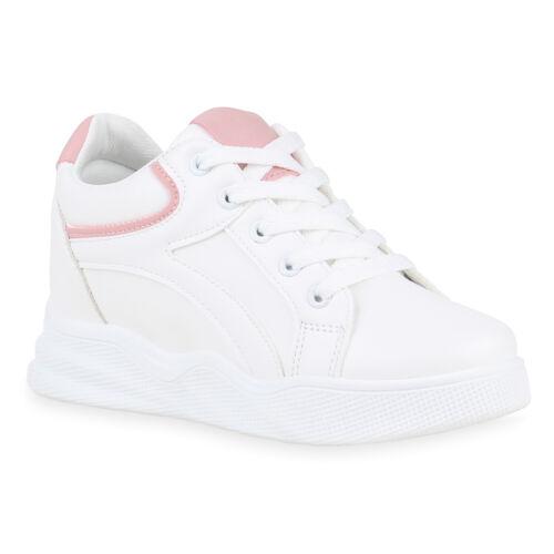 Damen Sneaker Wedges Keilabsatz Schnürer Turnschuhe 832231 Schuhe