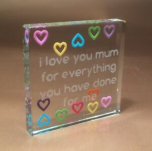 spaceform multi hearts mum token morthers day birthday gift ideas