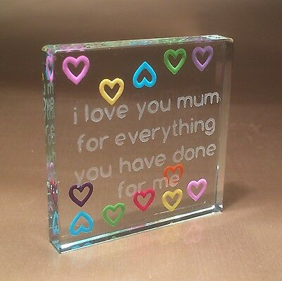 Spaceform Thank You Mum Token Christmas Gift ideas for Her Mother Mom 1746