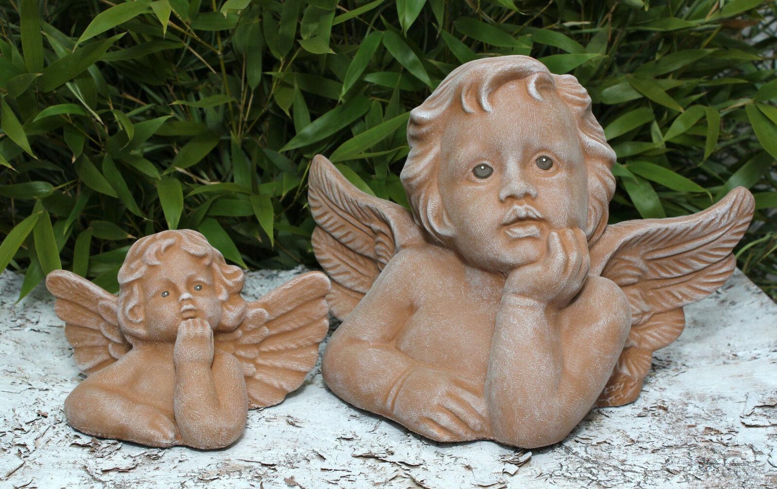 Figura di pietra Angelo Set CHERUBINO DECORAZIONE GIARDINO FUNERARIA disegni