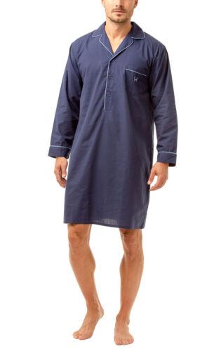 Haigman Men/'s Easy Care Long Sleeve Nightshirt with Cotton Nightwear
