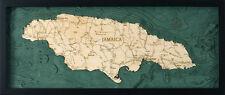 "JAMAICA 13.5"" x 31"" New, Laser-Cut 3-Dimen Wood Chart/Lake Art Map"
