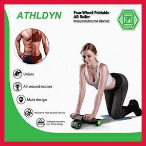 ATHLDYN-AB-Roller-Wheel-For-Abdominal-Exercise-4-Foldable-Abs-Women-amp-Men-W-Knee