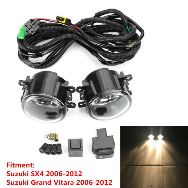 Pair Front Fog Lights With H11 Bulb  U0026wiring Harness For
