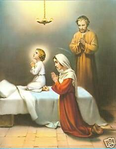 Catholic-Print-Picture-HOLY-FAMILY-at-Prayer-8x10-034-ready-to-frame