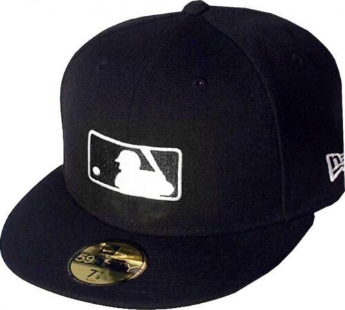 NEW ERA MLB LOGO BLACK WHITE LOGO CAP 59 FIFTY 5950 Fitted MLB Limited Edition