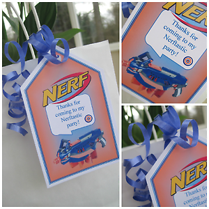 NERF Birthday Party Favors ...