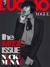 L'uomo Vogue Magazine October 2014,Nicki Minaj,Francesco Carrozzini NEW