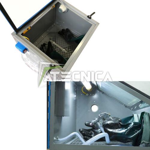 Sandstrahler Schreibtisch FERVI 0580 Kabine für Trockeneisstrahlen mit Größe