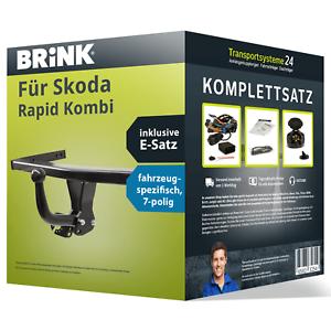 E-Satz Kit NEU Anhängerkupplung BRINK starr für SKODA Rapid Kombi