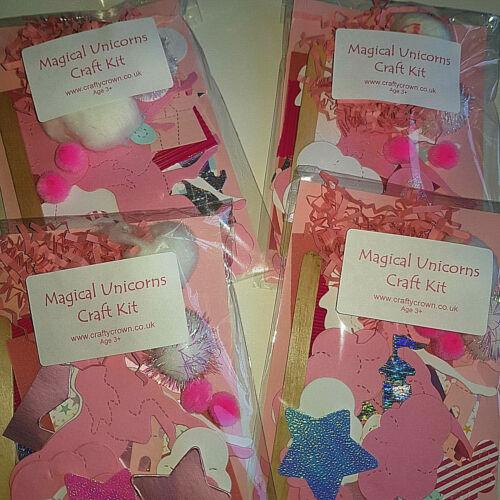MAGICAL UNICORNS CRAFT KIT PARTY NEW CHILDREN CARDMAKING