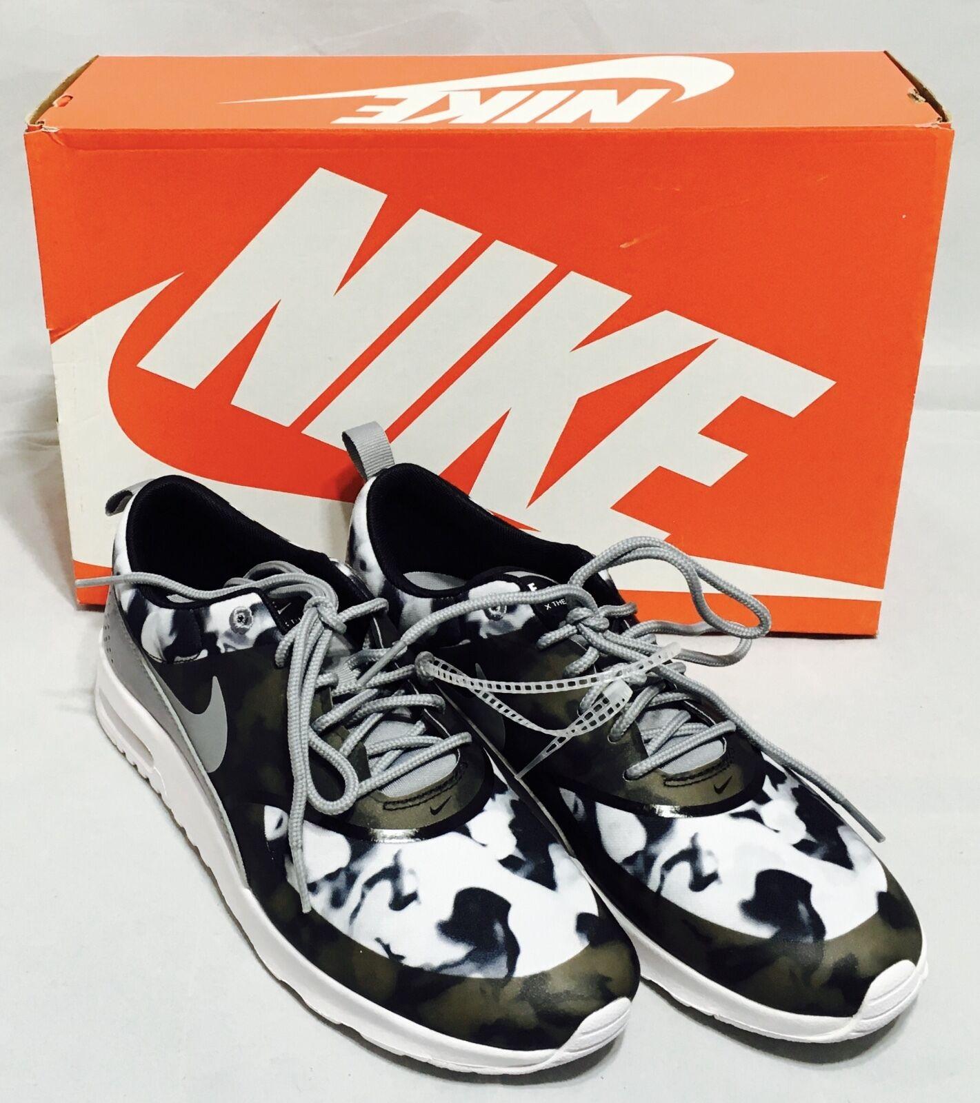 Nike Air Max Thea Print donna  scarpe da ginnastica scarpe 59408 012 nero Sz 8 9.5 NUOVO  alta qualità genuina