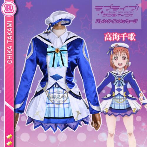 New Love Live Sunshine Chika Takami Aqours OP2 Cosplay Costume Free Shipping