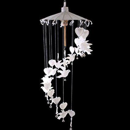 White Fabric Dove Mobile