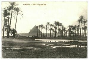 Antique-printed-postcard-Cairo-The-Pyramids