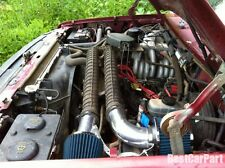 BCP BLUE 1988-1995 F150 5.0L 5.8L Non-MAF V8 Air Intake Induction Kit+ Filter