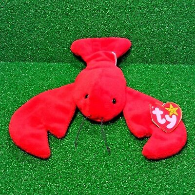 Free Shipping TY Beanie Baby PINCHERS The Lobster MWMT 1993 Retired P.V.C