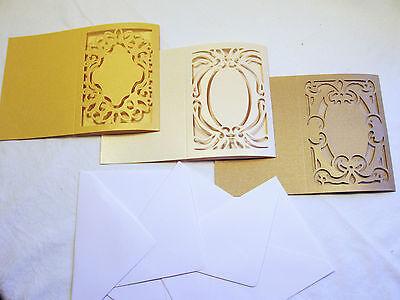 Grußkarten Rohlinge ausgestanzte Ornamente / Passepartout  viele Farben/Muster