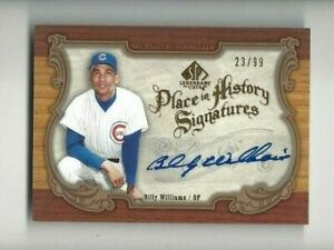 2006 SP Legendary Cuts signed baseball card Billy Williams Chicago Cubs 23/99