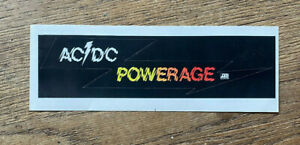 Vintage-AC-DC-Powerage-1978-Atlantic-Records-PROMO-Only-STICKER-Unsed-MINT