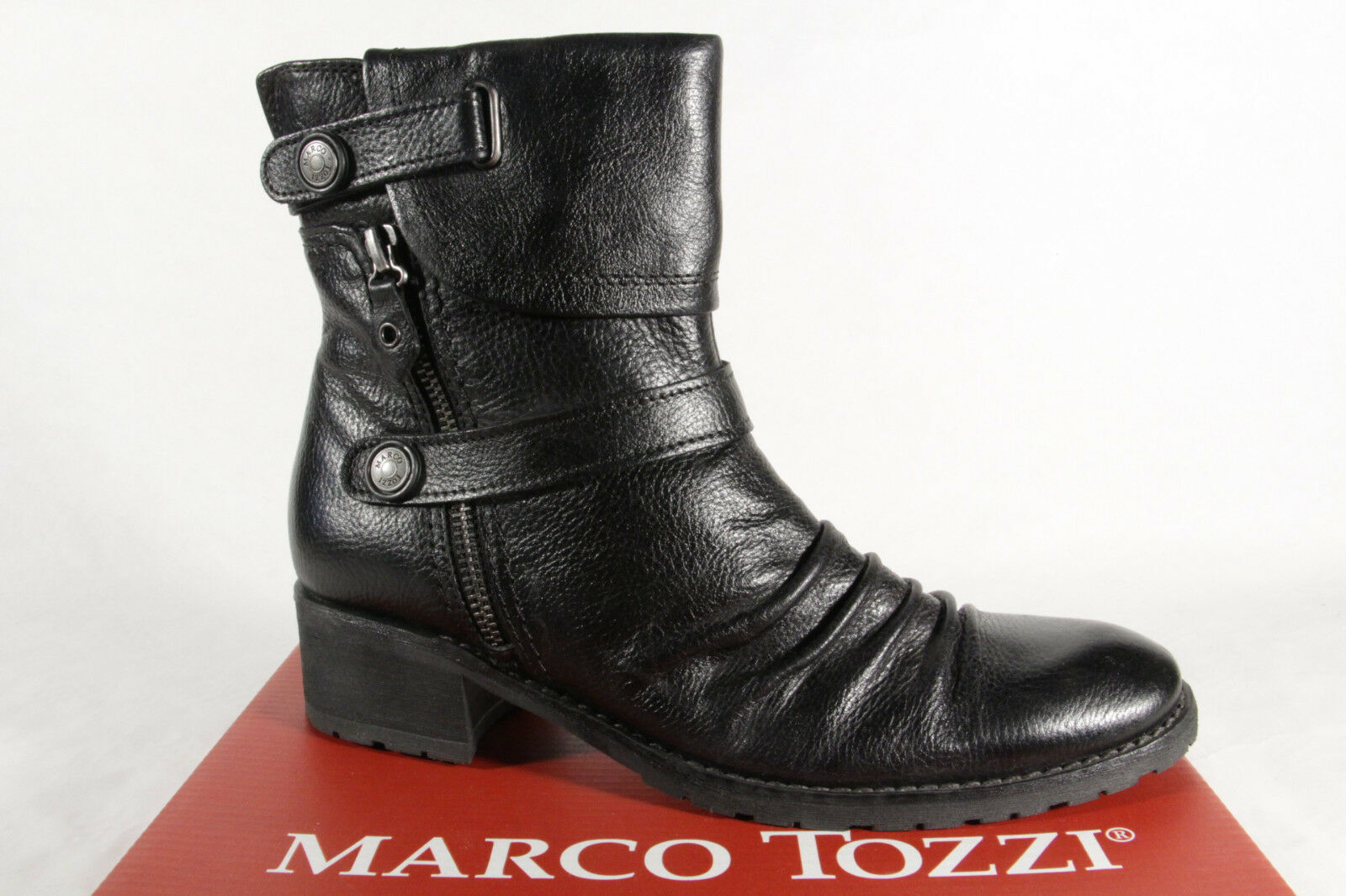 Marco Tozzi Women's Boots Ankle Boots Ankle Boots Genuine Leather New