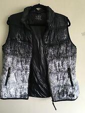 Marc New York Black White Abstract avantgarde Puffer Down Styl Vest Jacket XL/L