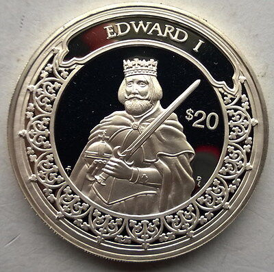 Liberia 1997 Cortes 20 Dollars 1oz Silver Coin,Proof