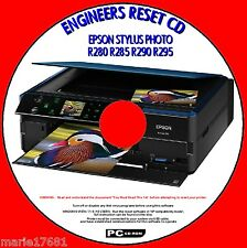 EPSON STYLUS R280 R285 R290 R295 PRINTER WASTE INK PAD RESET ENGINEER UTILITY CD