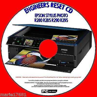 Reset Waste Ink Pad EPSON  R280  Delivery Email