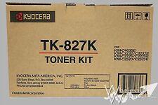 New Genuine Kyocera Mita TK-827K OEM Black Toner Cartridge TK827K TK-827 TK827