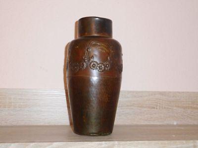Antike Originale Vor 1945 1904 Bis 1920 Relieving Heat And Sunstroke Uralte Vase Bronzevase Von Wmf Straußenmarke Höhe 26 Cm Ca Metallobjekte