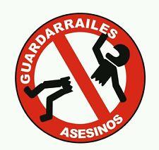 Pegatina Adhesivo Sticker Guardarrailes Asesinos 10 CMS  Aufkleber Autocollant
