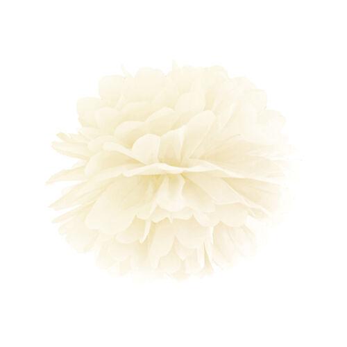 "Pom Poms /""Papier Colour/"" Ø 25 1 Stück ivory Hochzeit Lampions Papier Blumen"