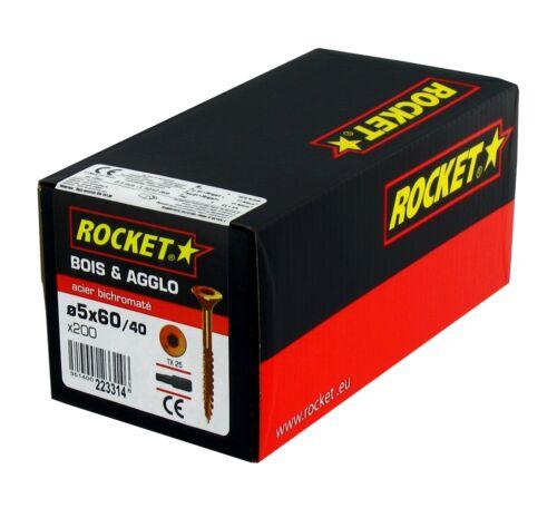 VIS A BOIS CHARPENTE 6.0x220//100 ROCKET BTE 100