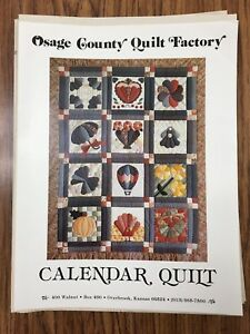 Details About Osage County Quilt Factory Calendar Quilt Block Of The Month Pattern 12 Vintage