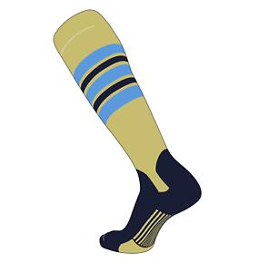 DN Vegas Gold TCK Elite Baseball Stirrup Socks Baby Blue Dk Navy F, 5in