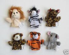 12 Wild Animal Kid Finger Puppets Zoo Safari Jungle Party Goody Bag Favor Supply