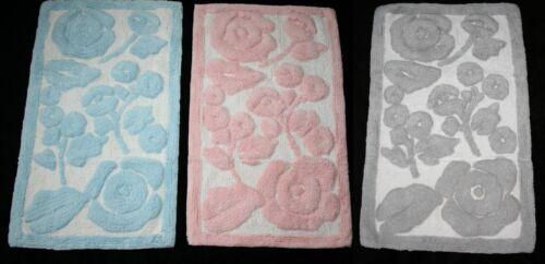 KINGSLEY Top Qulity 100% Cotton Non Slip Bath Mat Size 80x50cm NEW Colour Choice