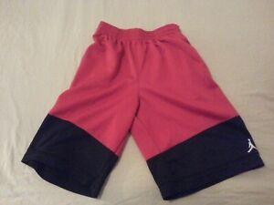 Boys-Nike-Jordan-Brand-Shorts-M-Medium-Red-Athletic-Gym-Workout-Basketball
