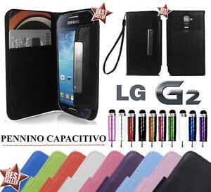 CUSTODIA-FLIP-COVER-CASE-PELLE-LIBRO-PORTAFOGLIO-SLIM-PER-LG-G2-D802-PENNINO
