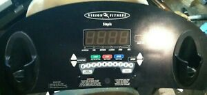 """Vision Fitness - T9250/9450 - """"Simple"""" - Treadmill Display Console Overlay   eBay"""