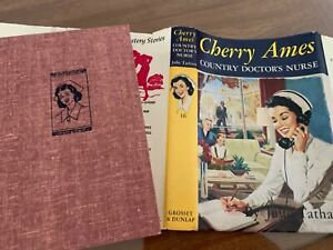 034-CHERRY-AMES-COUNTRY-DOCTOR-039-S-NURSE-034-hb-dj-RED-TWEED-EXCELLENT-CONDITION