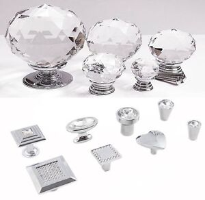 BEST Quality Crystal Glass Door Knobs Drawer Cabinet Furniture ...