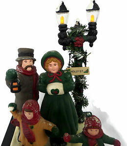 image is loading victorian dickens christmas carolers illuminated and musical decoration